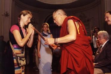 Irena Gayatri Horvat s Dalaj Lamom