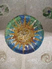 Park Güell - strop hipostilne dvorane, detalj