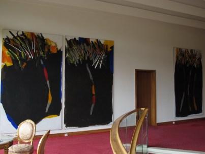 Edo Murtić - Tri crne u boji - triptih, 2002.