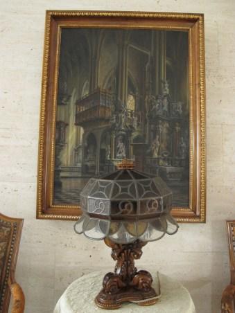 Branko Šenoa - Unutrašnjost stare katedrale, 1934. (u Pučkoj dvorani)
