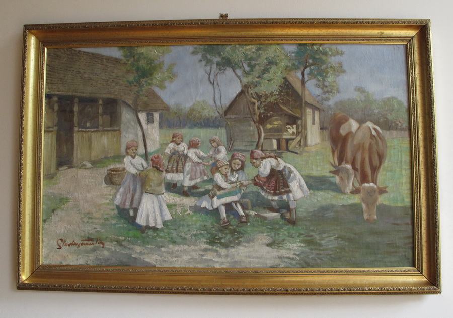 Slavko Tomerlin - Krave na paši s djecom, 1943.