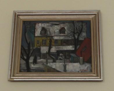 Vilim Svečnjak - Dvorište u snijegu, 1956.