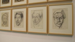 Autoportreti, 1949-1952, ugljen na papiru, olovka na papiru - detalj