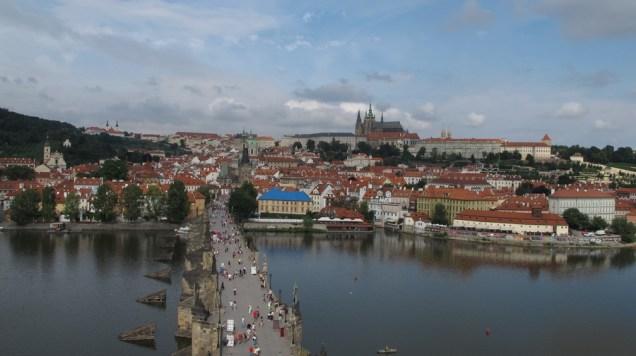 Pogled sa Starogradskog tornja - Karlov most