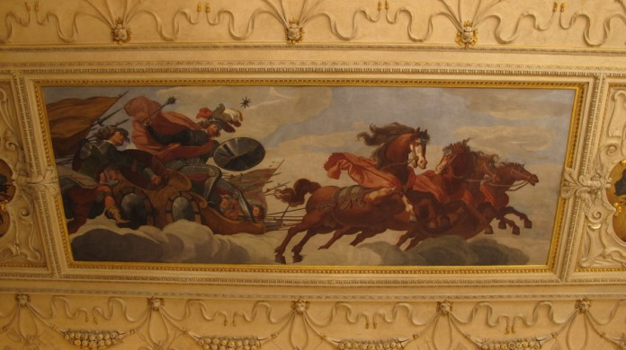 Stropna freska - Mars vozi trijumfalnu kočiju