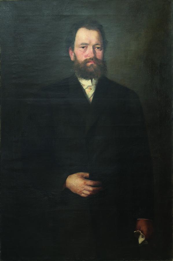 Ivana Kobilca - Portret dr. Lovre Vidrića, 2. pol. 19. st., ulje na platnu; 118x81