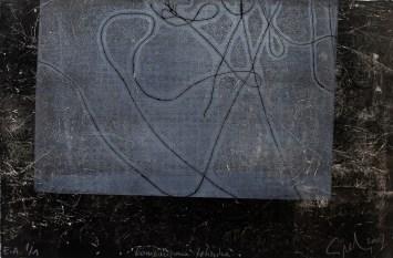 Maja Cipek - Bez naslova, 2007. (iz grafičko-pjesničke mape Ljeto u Samoboru), kombinirana tehnika; 39x26,5cm