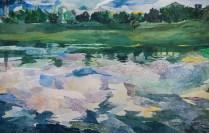 Neodređeno doba dana 2, akvarel na papiru, 38 x56