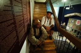 Glumci Edi Jertec i Hrvoje Sebastijan koji su izveli dramski ulomak 'Što su Sancho Pansa i Pomet Trpeza mogli jedan drugome ispričati da su se sreli?', foto: Miho Skvrce