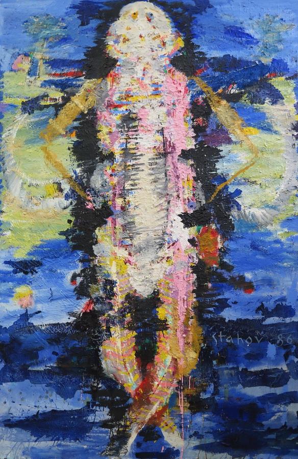Putnik, ulje na platnu, 200 x 135 cm, 1986.