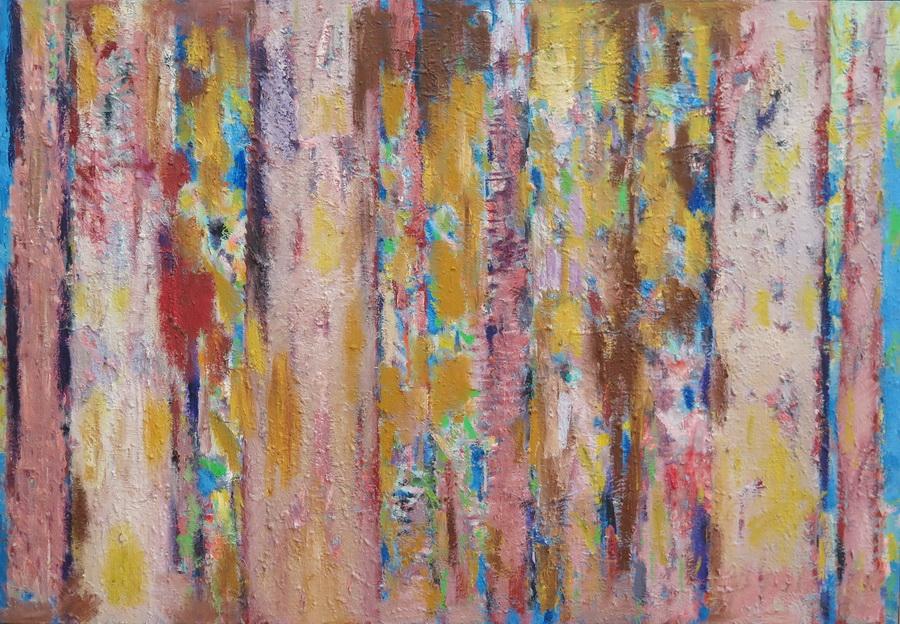 Šuma, ulje na platnu, 100 x 145 cm, 2009.