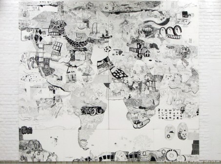 Another World, 2009., ink on paper, 375 x 420cm