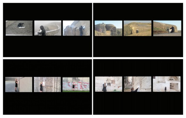 Memory I, II, III, IV, 2012-2013., (video, 2min), frottage, 12 x (cca.50 x 70cm)
