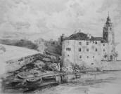 Crikvenica, 1910.-1915., tuš, pero, laviranje kistom na papiru