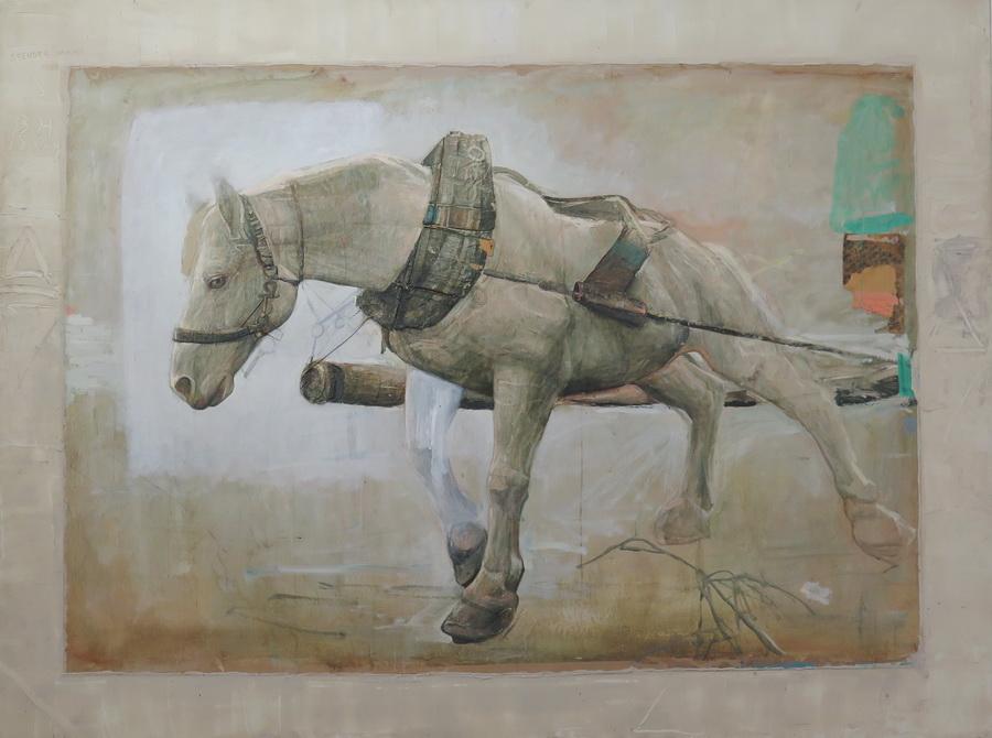 Mersad Berber - Bosanski konj I, ulje na papiru, 1978.; foto: Goran Vranić