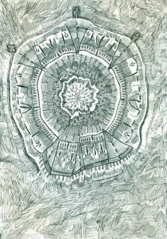 Iz serije Mutacije, 1999., tuš na papiru