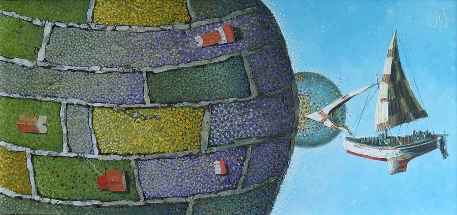 Vikend planet - akril i ulje na platnu, 2016.