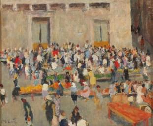 Ivo Dulčić - Na trgu, 1950ih, snimio: Goran Vranić@Moderna galerija, vlasništvo Moderne galerije