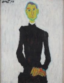 Jezuit, 1954., ulje na platnu, vl. Mira Dulčić, Umjetnički paviljon