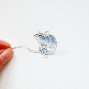 Nikolina Knežević - Mr. Mouse; akvarel, 2016.
