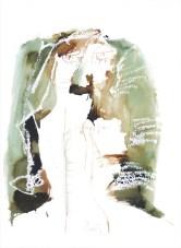 Glava (751), 1983., močilo/papir; 62,5x44,5cm