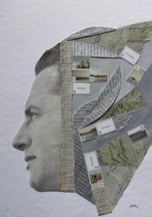 Maruša Štibelj - Glorify beautiful memories, kolaž na papiru