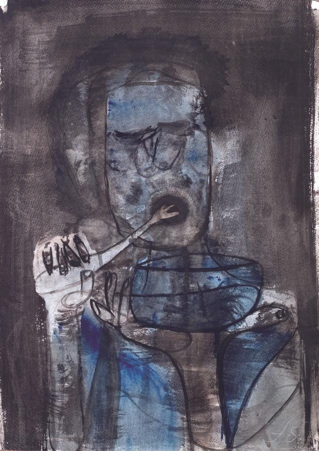 Hrana (78), 1950, močilo, tempera/papir, 59,5x42cm