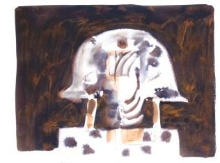 Osvajač, 1978., tehnika, tempera, močilo/papir; 56x75cm