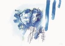Profil (2380), 1990., tempera/papir; 50x70,5cm
