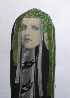 Maruša Štibelj - See a hairdresser, kolaž na papiru