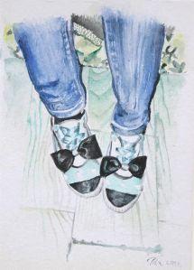 Dancing Shoes, 14x9 cm, akvarel, 2014.