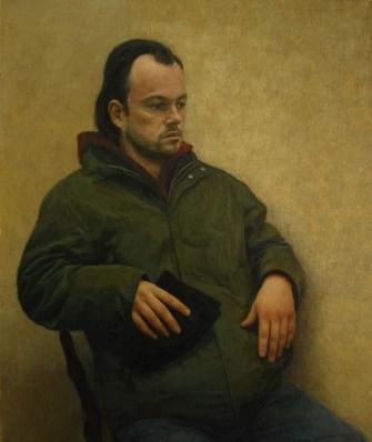 Rene Grgić-Đaković: Larson, ulje/medijapan, 2013.