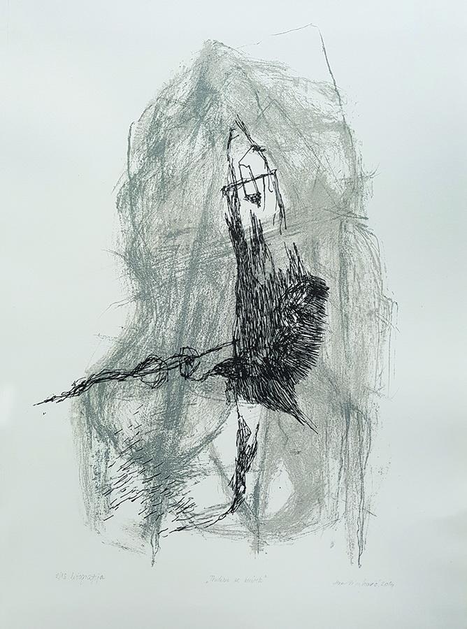 Ana Vinković - Mirovanje, litografija 2013/2014