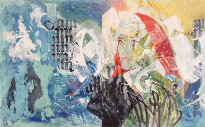 Marcelina Groń - Untangling; diptih, akrilik na platnu, 150x240 cm, 2016