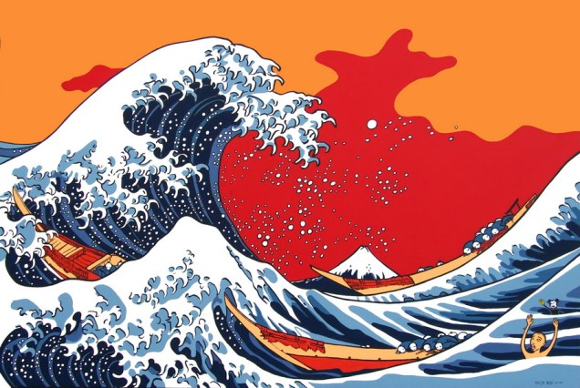 Via Katsushika Hokusai, 2008, 150x100 cm, acrylic on canvas