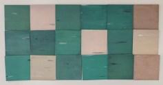 Mikołaj Kowalski - Gerhard's Floor; ulje na drvu, 18 elemenata, 30x30 cm, 2016