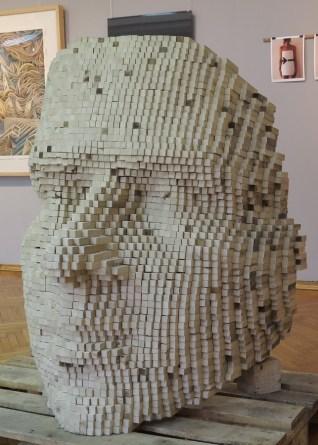Robert Erdelji - Rezolucija identiteta, 2017., drvo, 110x80x80cm