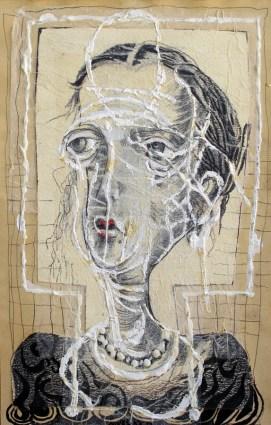 Nives Kavurić Kurtović - Autoportret, 1987., ulje, 31x19cm, Gradski muzej Omiš