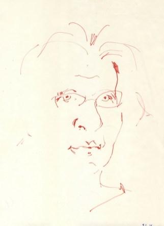 Tamara Ukrainčik - Autoportret, 2016., flomaster na papiru, 29,5x21cm