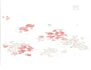 """Tihana Karlović - """"Plutajući svijet u mojem umu""""; rapidograf, kolaž, japanski drvorez, 41 x 32 cm, 2016."""