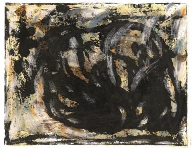"""Ivana Rod - """"Prostor među nama""""; drvene bojice, akril, 41 x 32 cm, 2016."""