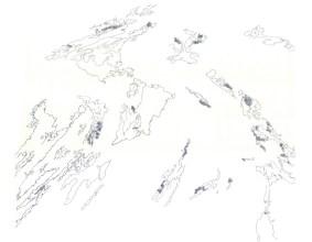 "Timothy Hofmann - ""Granice""; grafitna olovka, 41 x 32 cm, 2017."