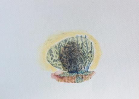 Ana Sladetić – Terra; akvarel, 2017.