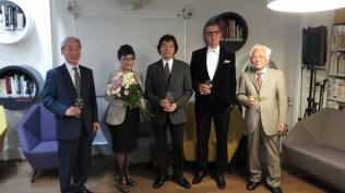 Veleposlanik Japana u Hrvatskoj Nj. E. g. Keiji Takiguchi, Teruyo Sato, Harumi Sonoyama, Leon Zakrajšek, predsjednik Japan Print Associationa Teruo Isomi