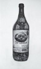 Miran Šabić – Ribar; crtež, tuš i pero na prepariranom papiru, 30 x 40 cm, 2015.-2017.