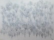 Snijeg 2 - kombinirana tehnika, 110x150cm, 2017.