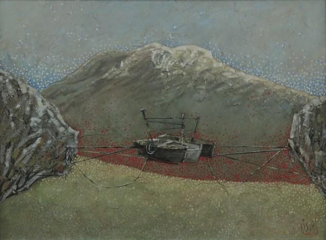 Ivan Listeš - Sidrište, akril i ulje na platnu, 90cm x 120cm, 2017.
