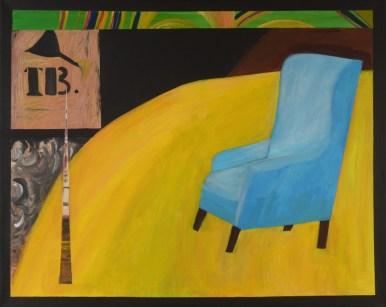 U fotelji - akril na platnu, 80x100cm, 2017.
