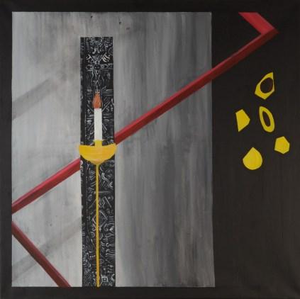 Amen - akril na platnu, 100x100cm, 2017.