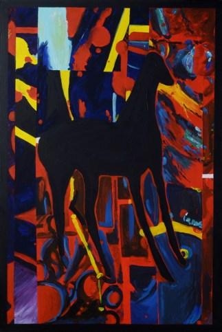 Na tronu - akril na platnu, 80x120cm, 2017.